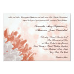 """Coral and White Reef 5"""" X 7"""" Invitation Card"""