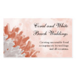 Coral and White Reef Pack Of Standard Business Cards