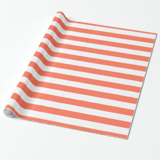 Coral and White XL Stripes Pattern