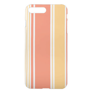 Coral and Yellow Modern Stripes iPhone 7 Plus Case