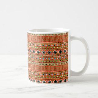 Coral Aztec Style Southwestern Pattern Coffee Mug