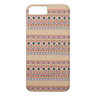 Coral Aztec Tribal Pattern iPhone 7 Plus Case
