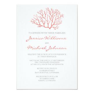 Coral Beach Wedding Card