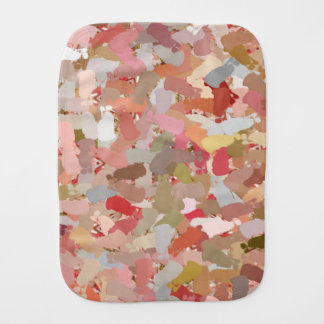 Coral Beads Paint Splatter 5050 baby burp cloth