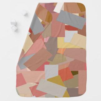 Coral Blocks 5050 baby blanket