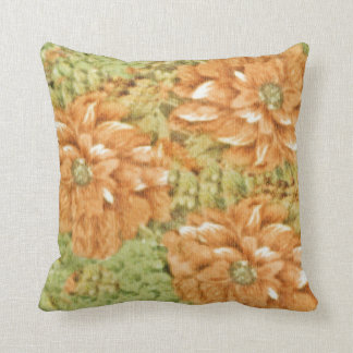 Coral Blooms Throw Pillow