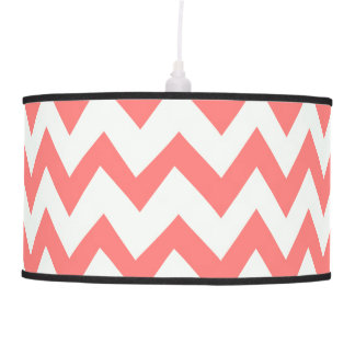 Coral Breeze Chevron Pendant Lamp
