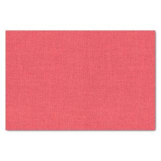 Coral Burlap Texture Tissue Paper