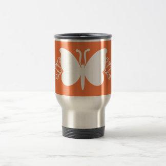 Coral Butterfly Swirls Mug