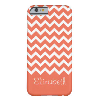 Coral Chevron Barely There iPhone 6 Case