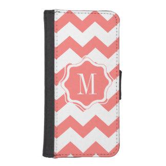 Coral chevron iPhone 5/5s Wallet Case Phone Wallet Case