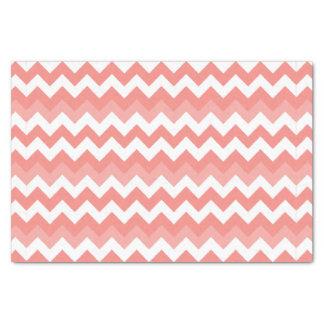 Coral Chevron Tissue Paper