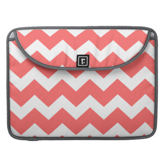 Coral  chevron zig zag Macbook Pro Laptop Case