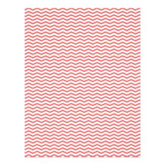 Coral Chevron Zig Zag Scrapbook Paper Flyer Design