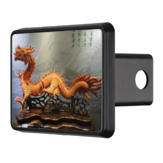 "Coral Chinese Dragon Hitch Cover 2"" Receiver"