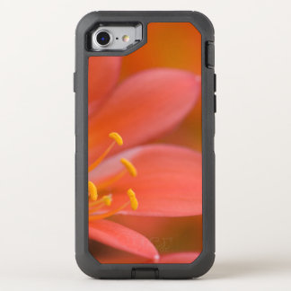 Coral Clivia Flower OtterBox Defender iPhone 8/7 Case