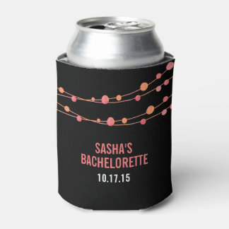 Coral Confetti Personalized Bachelorette Party Can Cooler