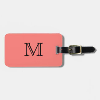Coral coral luggage tag