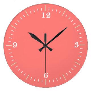 Coral Coral Wall clock