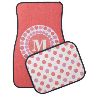 Coral Custom Monogram Car Mats Car Floor Carpet