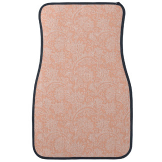 Coral Damask girly girls car decor auto mats