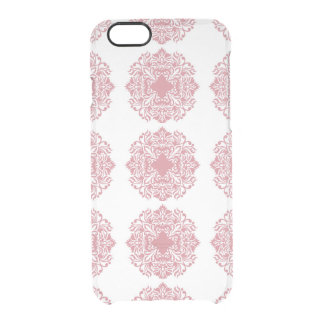 Coral Damask iPhone 6 Clear Case
