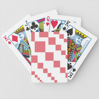 Coral Descending Diamonds Bicycle Playing Cards
