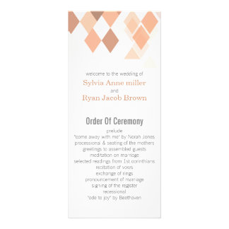 coral diamonds Geometrical wedding programs