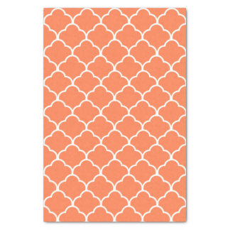 Coral Elegant Moroccan Design Tissue Paper