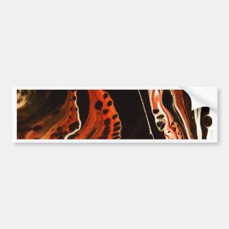 Coral Flame Bumper Sticker