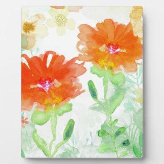Coral Floral Plaque