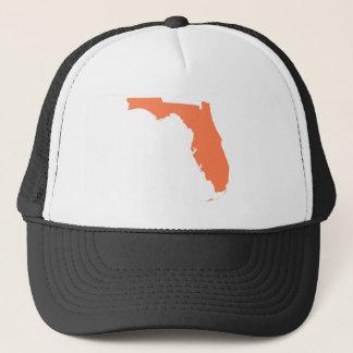Coral Florida Trucker Hat