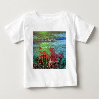 Coral ,Flowers and good message. Baby T-Shirt