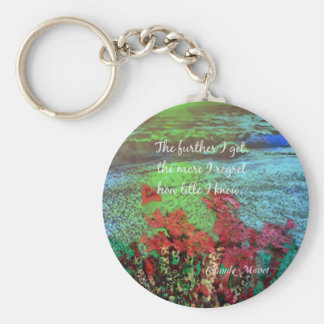 Coral ,Flowers and good message. Basic Round Button Keychain
