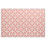 Coral Geometric Pattern Fabric