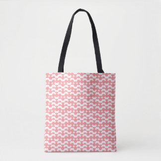 coral geometric tote bag