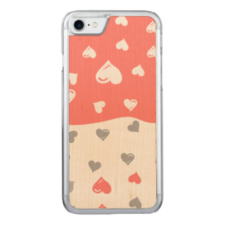 coral  grayhearts .ai carved iPhone 8/7 case