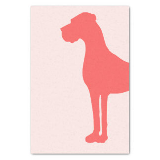 Coral Great Dane Tissue Paper