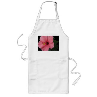 Coral Hibiscus Long Apron
