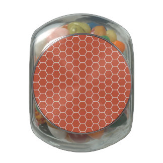Coral Honeycomb Hexagon Geometric Pattern