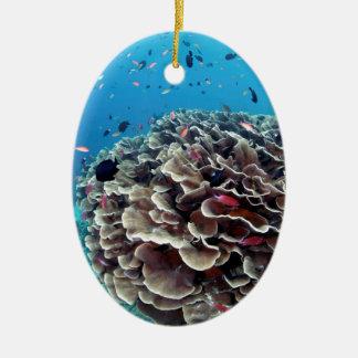 Coral Island Ceramic Ornament