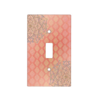 Coral Lavender Gold Moroccan Arabian Glam Light Switch Cover