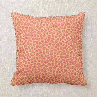 Coral Leopard Print Throw Pillow