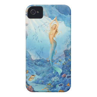 """Coral"", Mermaid, Fish and Shipwreck iPhone Case"