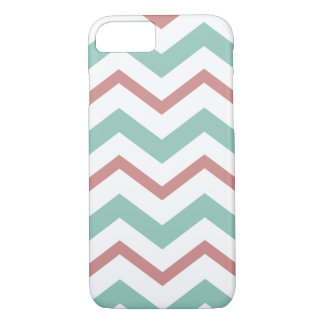 Coral & Mint Chevron iPhone 8/7 Case