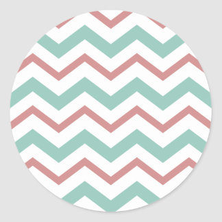 Coral & Mint Chevron Stickers