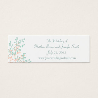 Coral/Mint Green Wedding Website Information Cards
