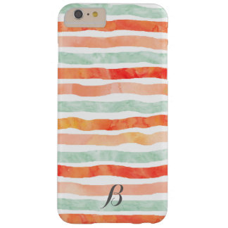 Coral Mint Orange Stripes iPhone 6/6s Plus Case