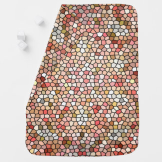 Coral Mosaic Beads 5050 baby blanket