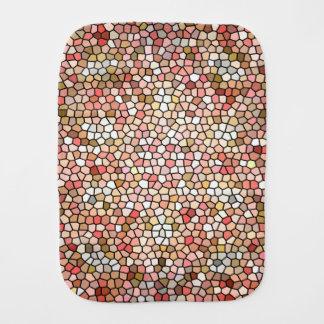 Coral Mosaic Beads 5050 burp cloth